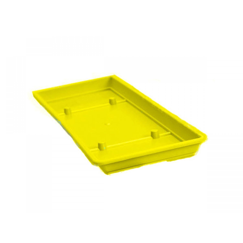 Πλαστικά Πιάτα Ζαρντινιέρας Mojito Κίτρινα 35cmX15cm         |kipogeorgiki.gr