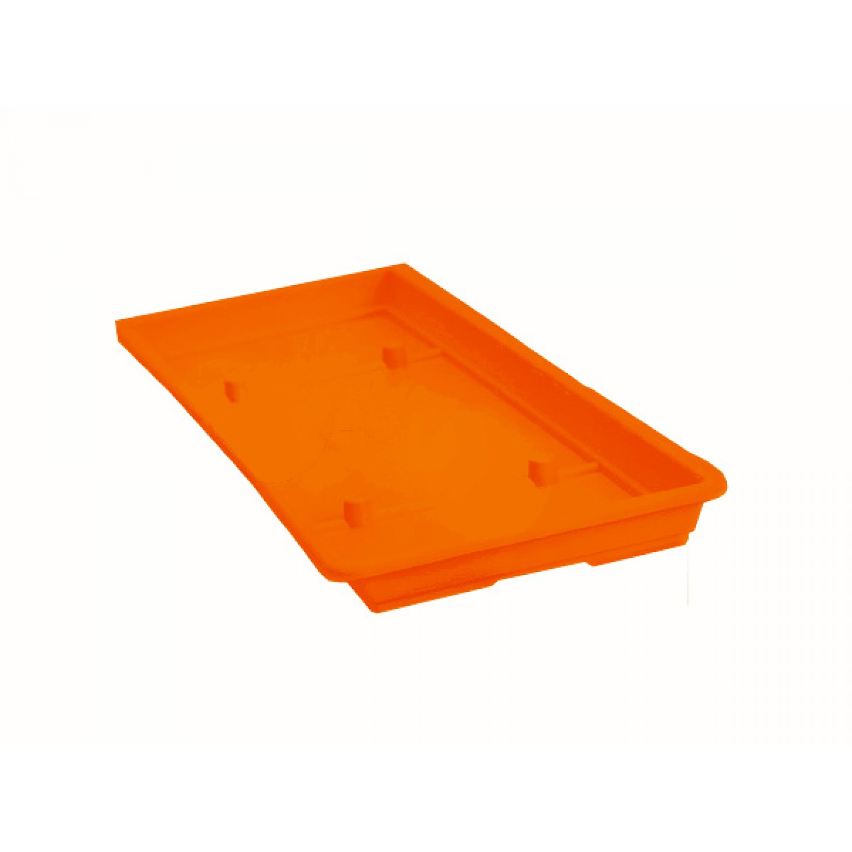 Πλαστικά Πιάτα Ζαρντινιέρας Mojito Πορτοκαλί 35cmX15cm         |kipogeorgiki.gr