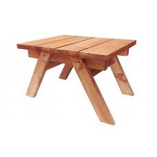 Τραπέζι Βοηθητικό από Πεύκο Χρώματος Καρυδί 45x38x(Y)45cm     |kipogeorgiki.gr