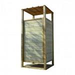 Ξύλινη Αλλαξιέρα Παραλίας 226(Y)x100x100cm | Κηπογεωργική