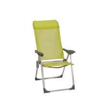 Πολυθρόνα Αλουμινίου με Ψηλή Πλάτη 5 Θέσεων Χρώματος Λαχανί  61x62x(Y)104cm     |kipogeorgiki.gr