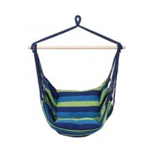 Καρέκλα Αιώρα Ύφασμα Ριγέ Μπλε-Λαχανί | Κηπογεωργική
