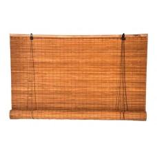 Στόρι Μπαμπού Καρυδί 100% Κάλυψη 180x(Υ)220cm | Κηπογεωργική