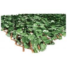 Δίχρωμες Διακοσμητικές Φυλλωσιές Πτυσσόμενες σε Ξύλινη Βέργα 100x300cm | kipogeorgiki.gr