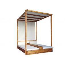 Κρεβάτι Παραλίας με Πάσο & Ουρανό 140x200x(Υ)200cm | Κηπογεωργική