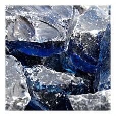 Γυάλινες Πέτρες Μπλε 1kg Διακοσμητικές