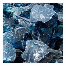 Γυάλινες Πέτρες Μπλε Ουρανού 1kg Διακοσμητικές