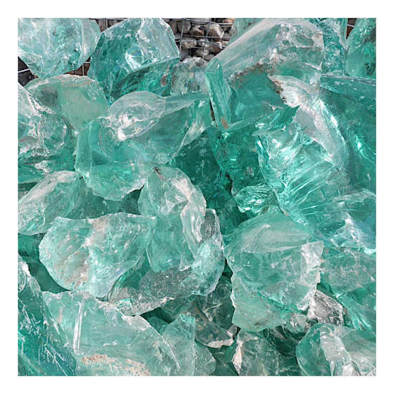 Γυάλινες Πέτρες Τυρκουάζ 1kg Διακοσμητικές