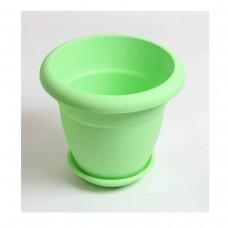 Πλαστική Χρωματιστή Γλάστρα Λαχανί 20cm (Υ) x 24cm Ø     |kipogeorgiki.gr