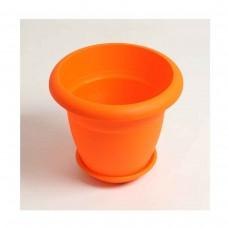 Πλαστική Χρωματιστή Γλάστρα Πορτοκαλί 32cm (Υ) x 39cm Ø       |kipogeorgiki.gr