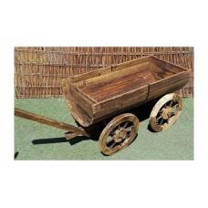 Ξύλινες Ζαρντινιέρες Διακοσμητικές Αντίκα Καροτσάκι 16x40x45cm      |kipogeorgiki.gr