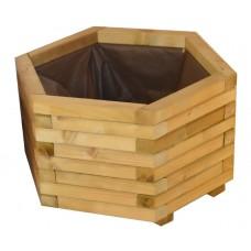 Γλάστρες εμποτισμένης ξυλείας εξάγωνες  Ø65cm |kipogeorgiki.gr