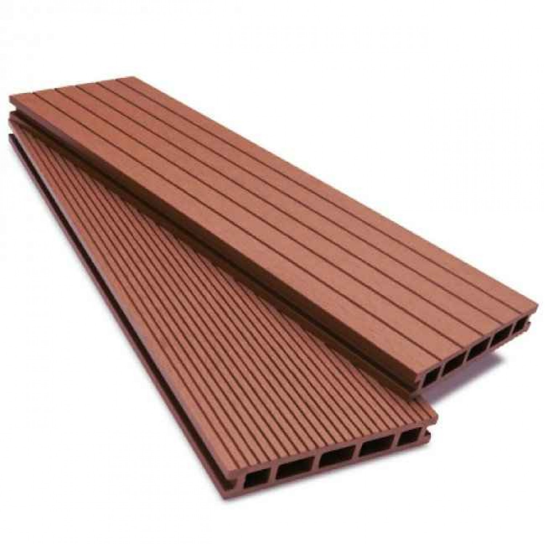 Τάβλες Deck WPC Πατώματος 2,5x15x390cm Μόκα | Κηπογεωργική