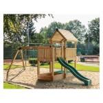 Παιδική Χαρά Επαγγελματικής Χρήσης Project 3S με Κούνια & Προέκταση 2 Θέσεων | kipogeorgiki.gr