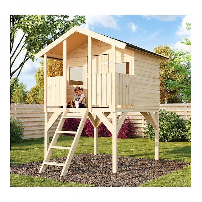 Ξύλινο Παιδικό Σπίτι ΤΟΜΠΙ 180x120cm | Ξυλεία | Κηπογεωργική