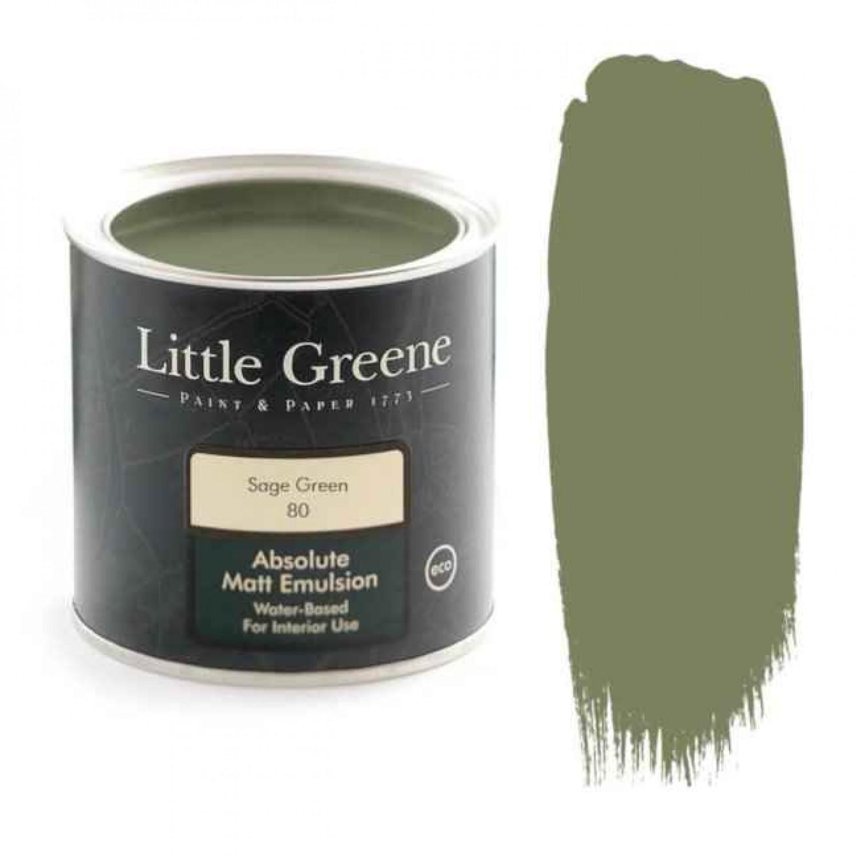 Ματ Πλαστικά Χρώματα της Little Greene - Sage Green 1lt | Κηπογεωργική