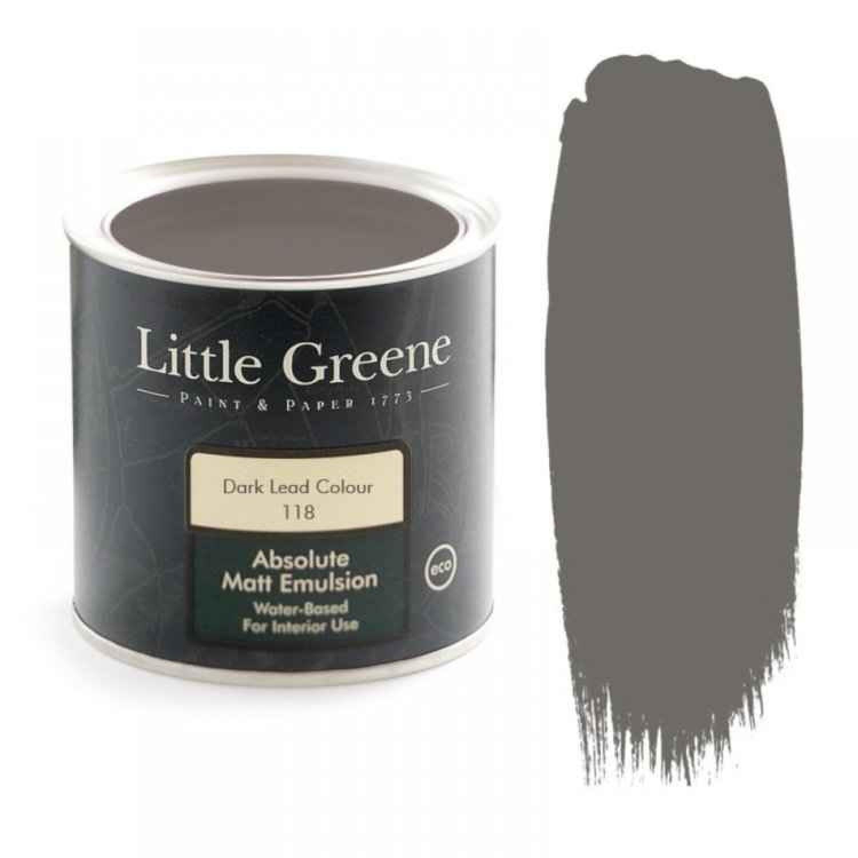 Ματ Πλαστικά Χρώματα της Little Greene - Dark Lead Col EH (118) 1lt | Κηπογεωργική