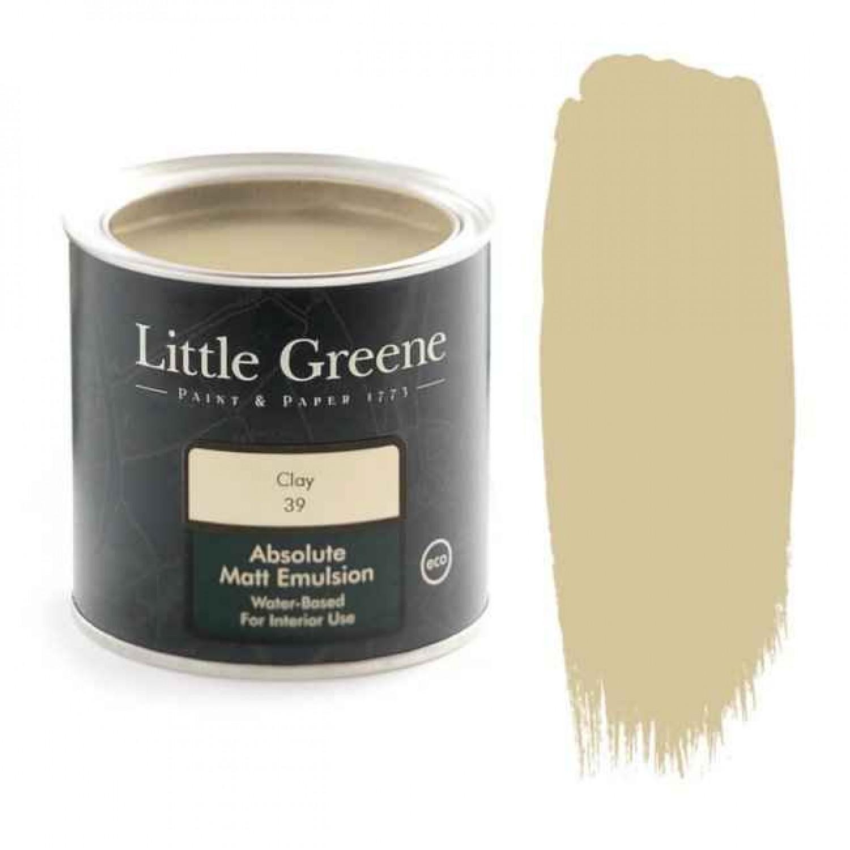 Ματ Πλαστικά Χρώματα της Little Greene - Clay 1lt   Κηπογεωργική