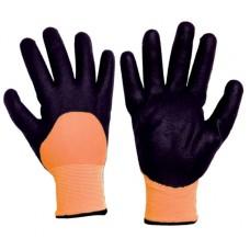 0021 Γάντια LATEX ψύχους με διπλή ενίσχυση πολυεστέρα Γάντια Κήπου